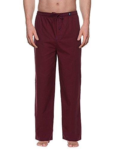 Bruno Banani Woven Pant Habitat MEN-Pantaloni pigiama uomo,    Rot (bordeaux stripes 1791) Grande (dimensioni produttore: L)