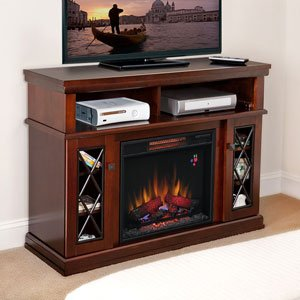 ChimneyFree Coventry Infrared Electric Fireplace Media Cabinet in Cherry - 23MM2706-C251 photo B00GRIU59A.jpg