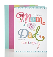 Bright Letters Mum and Dad Anniversary Card