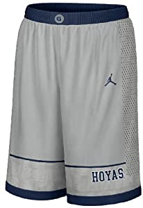Buy Georgetown Hoyas 12 Grey Player Shorts by Nike by Nike