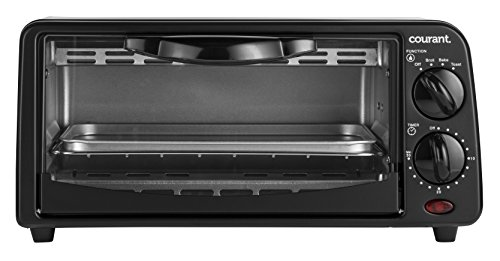 Courant TO-621K 2 Slice Compact Toaster Oven with Bake Tray and Toast Rack, Black (Toaster Ovens Best Rated Compact compare prices)