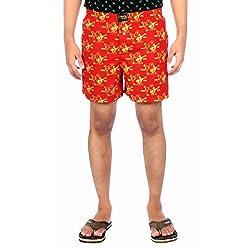 Aaduki Men's Cotton Shorts_Red-M