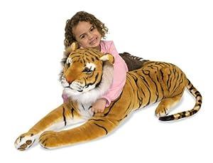Amazon.com: Melissa & Doug Tiger Giant Stuffed Animal: Toys & Games