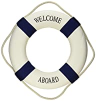 Welcome Aboard Cloth Life Ring Navy A…