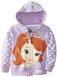 Disney Little Girls\' Sofia the First Hoodie, Lilac, 2T