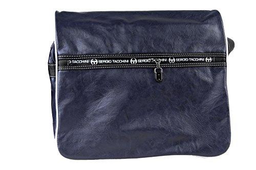 Cartella uomo SERGIO TACCHINI blu borsa con patta messanger e tracolla F440