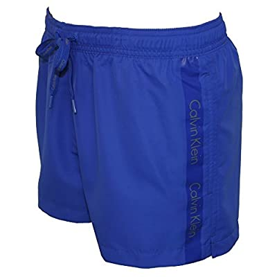 Calvin Klein Logo Tape Men's Swim Shorts, Royal Blue
