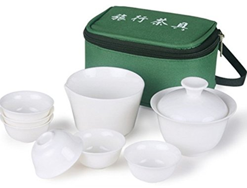 Chariot Trading - 10 PCS/Set new travel chinese tea set ceramic portable