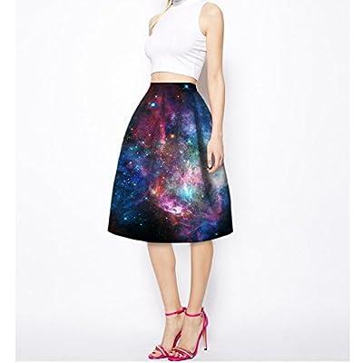 Niyatree Women Skater Skirt Colorful Sea Spray Beauty Lady Short Mini Skirt