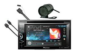 "Pioneer AVH-X2500BT In-Dash 6.1"" Touchscreen DVD/USB/MP3 Car Stereo Receiver with Bluetooth, iPod Controls (FREE I-POD CABLE & REAR VIEW CAMERA)"