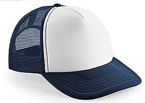 Kinder Jungen Mädchen 8 - 14 Jahre - Snapback Trucker blau Sonnenschutz Hut Kappe Mütze