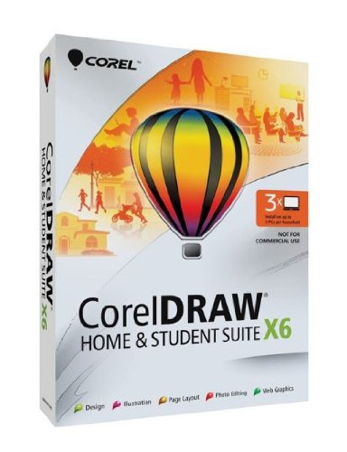 CorelDRAW Home and Student Suite X6 - 3 Users (Draw Graphics Suite compare prices)