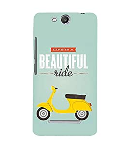 Life Is A Beautiful Ride 3D Hard Polycarbonate Designer Back Case Cover for Micromax Canvas Juice 3+ Q394 :: Micromax Canvas Juice 3Plus Q394