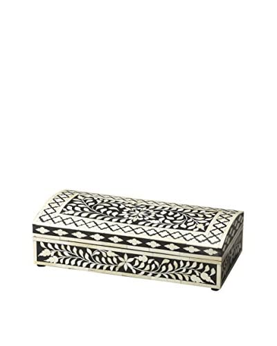 Butler Specialty Vivienne Bone Inlay Storage Box, Black