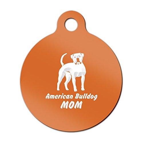 American Bulldog Mom Engraved Keychain / Round Tag with Tab Mister Petlife bully Orange (Bulldog Mom Keychain compare prices)