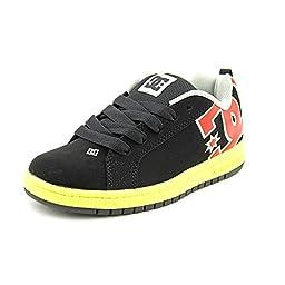 DC Court Graffik Skate Shoe (Toddler/Little Kid/Big Kid),Black/Bright Yellow,6 M US Big Kid