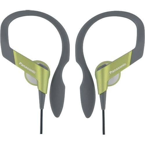41%2BVTPqghPL Panasonic RP HS33 G In Ear Water Resistant Sport Clip Earbud Headphones (Lime Green)