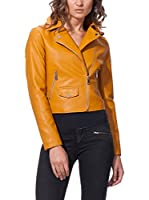 OSLEY PARIS Chaqueta Biker With Pocket Detail (Mostaza)