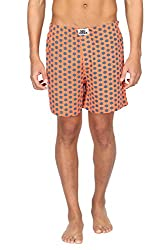 Nuteez Orange Boxers For Men