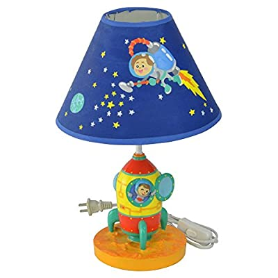 Fantasy Fields Outer Space Hand Painted Kids Table Lamp