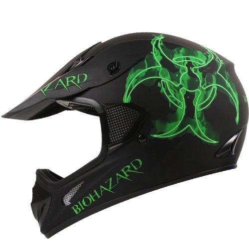 IV2 Bio-hazard Matte Black ATV Dirt Bike Motocross Motorsports Helmet DOT (S)