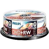 PHILIPS DVD+RW 4.7 GB Data / 120 min. 4X Spindle de 25par Philips