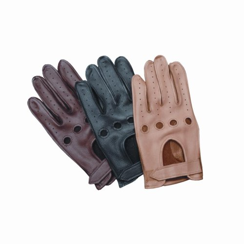 Wheelskins Genuine Deerskin DRIVING GLOVES - Chocolate Brown (Size Large)