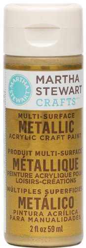 Martha Stewart 32103 2-Ounce Acrylic Metallic Paint, Gold front-955561