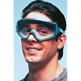 uvex stealth Chemical-Splash Goggles, Clear; Teal/light gray
