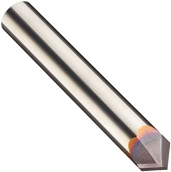 "Niagara Cutter N76595 Carbide Chamfering Mill, TiAlN Coated, 2 Flutes, 90 Degree Chamfer End, 1/4"" Cut Cutting Length, 1/2"" Diameter"