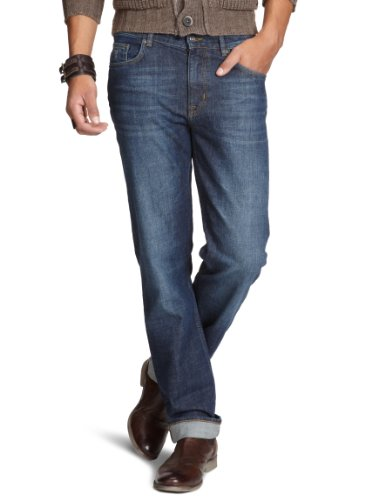Gant Men's 1301111 Straight Leg Jeans Blue (Mid Blue Worn In) 32/32