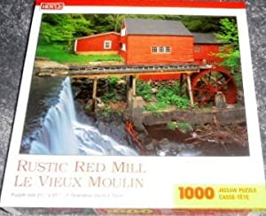 Rustic Red Mill 1000 Piece Jigsaw Puzzle