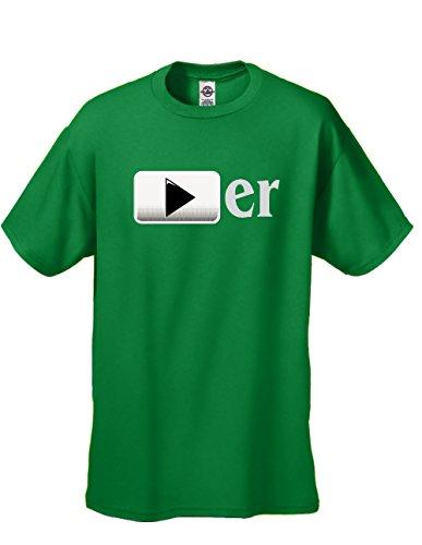 Youtuber - Cool Short Sleeve Tee - Green -M