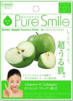 ピュアスマイル エッセンスマスク 青リンゴ 30枚セット しっとり、ふっくら、超うる肌1日たったの105円で・・・毎日、おうちが高級エステに大変身