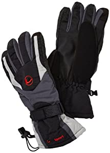 Ultrasport Herren Skihandschuhe mit Touchscreen Funktion, grau, S, 45600