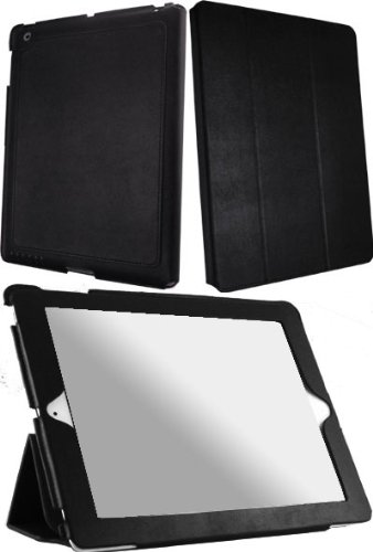 HHI Re-Elegant Super Slim Case For iPad 2 - Black (Supports auto lock and unlock mode)