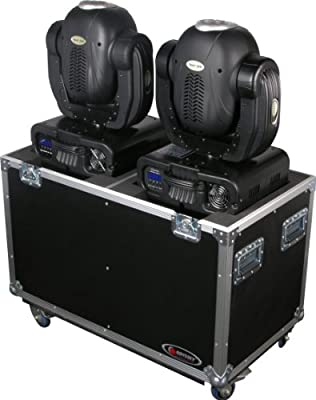 Odyssey FZMH250X2W Flight Zone Standard Dual 250 Style Moving Head Ata Case With Wheels from Odyssey Innovative Designs