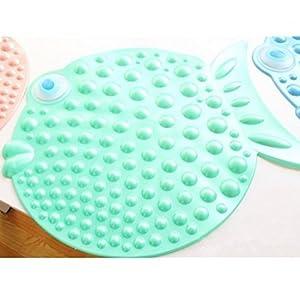 Kf444 cute fish bubble shaped anti slip bath for Fish bath mat