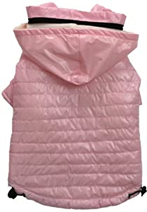 Pet Life Lightweight Adjustable 'Sporty Avalanche' Dog Coat with Removable 'Pop Out' Collared Hood, Small, Light Pink