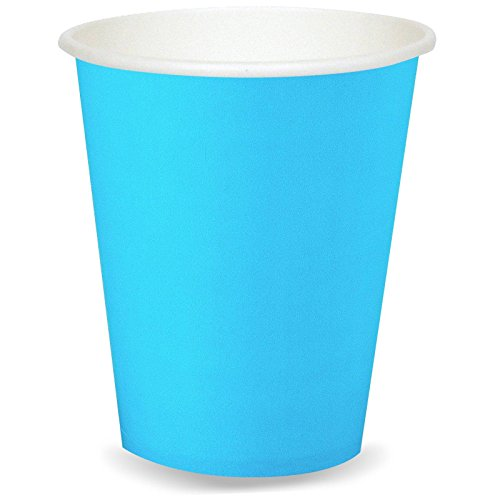 Creative Converting 24 Count Paper Hot/Cold Cups, Bermuda Blue - 1