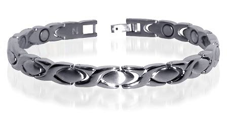 Hugs & Kisses Stainless Steel Magnetic Bracelet 7.5