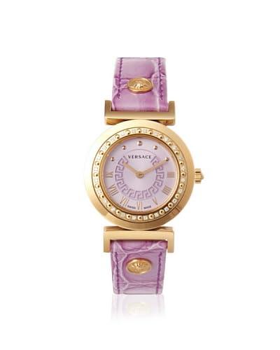 Versace Women's P5Q81D702 S702 Vanitas Diamond Purple Leather Watch