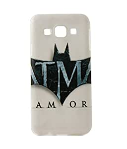 Exclusive Rubberised Back Cover For Samsung Galaxy E5 - AMOR