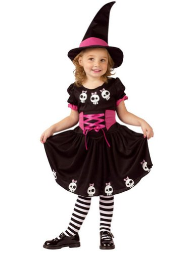 baby-girls - Skull Witch Toddler Costume 3T-4T Halloween Costume