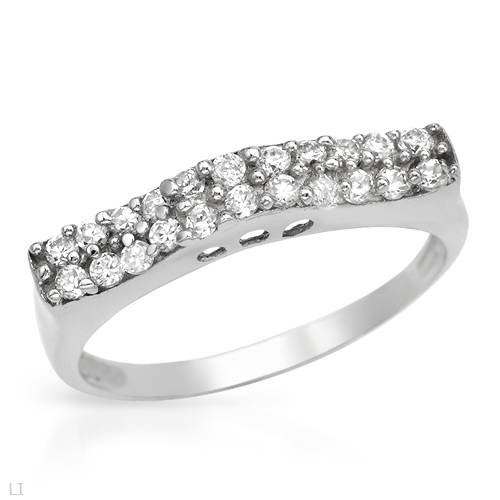 Ring With 2.20ctw Cubic zirconia Made of 925 Sterling silver (Size 5.5)