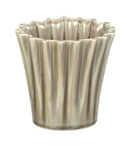 Ceramic Warm Grey Compton Planter / Plant Pot H100 x 100mm