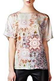 Autograph Slash Neck Kaleidoscope Print Top [T50-9060-S]