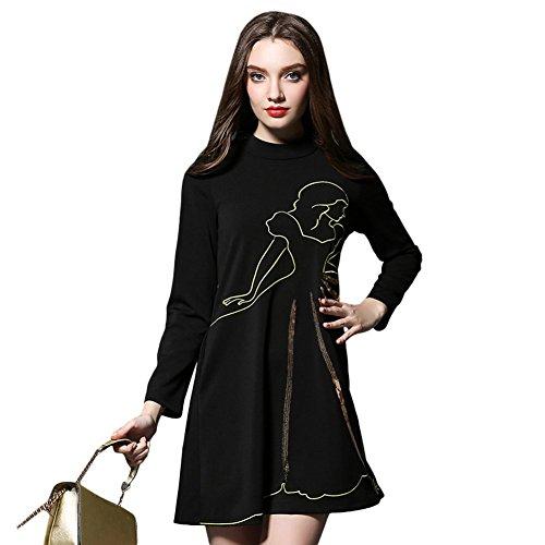 Liyang Donne boutique sezione pendolari paillettes lana maglione del capo a maniche lunghe drees 300