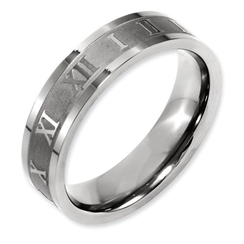 Roman Numeral Wedding Band