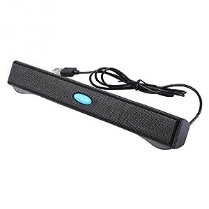 Meily USBサウンドバースピーカー サウンドバー 持ち運びに便利 音の立体感を感じる USB接続 コンセント不要